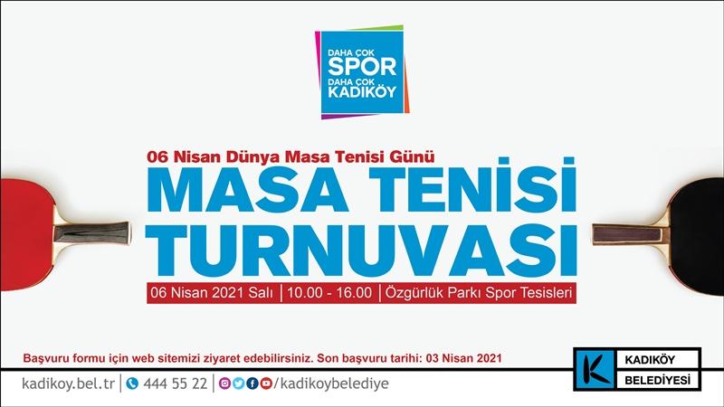 Kadıköy'de masa tenisi turnuvası