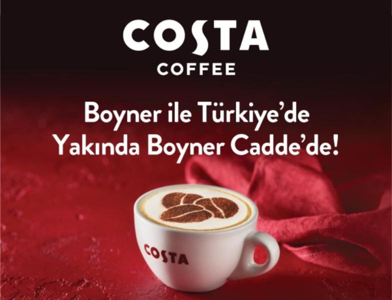 İngiltere'nin kahve zinciri Costa Coffee Boyner ile Türkiye'de!