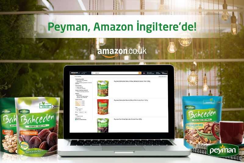 Peyman lezzetleri Amazon İngiltere'de