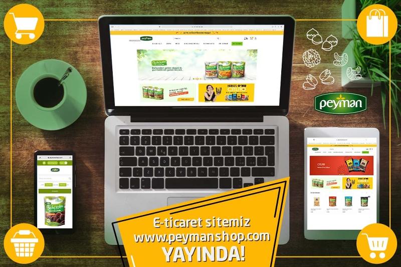 Peyman'ın e-ticaret sitesi açıldı